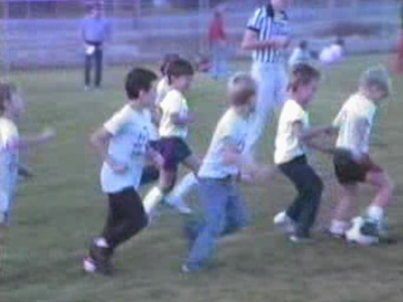 Video Archive Clip 1987 (Oct) - Yaden, Matthew J. - Age 6 - Matthew (#11) plays soccer - Selah, WA - Original VHS Series (3 min 7 sec)