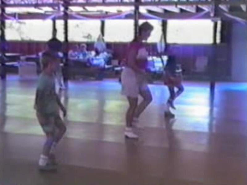 Video Archive Clip 1988 (Aug) - Yaden Clogging - Julie & the boys dance at Circle 8 Ranch - Circle 8 Clogging Workshop - Cle Elum, WA - Danny (age 10), Matthew (age 7), Jacob (age 3) Steven (age 3 mos) - Clogging Memoirs Series (8 min 12 sec)