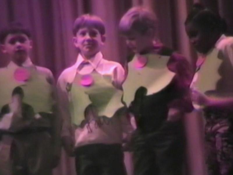 Video Archive Clip 1995 (Dec) - Yaden, Steven R. - Age 7 - Steven sings in the Brinkerhoff Christmas Concert - Brinkerhoff Elementary School - Mansfield, OH - Original VHS Series (4 min 54 sec)